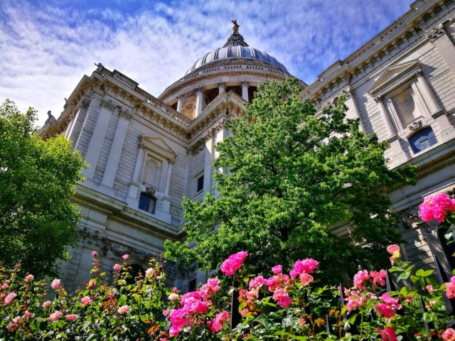 St Paul's Cathedral in London in early June - The Best Time to Visit Europe?