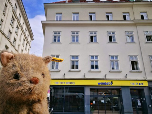 Places to vist in Vienna in 2 Days - Wagner Wombat outside the Wombats Vienna Naschmarkt