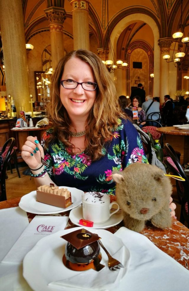 Coffee & Cake at Cafe Central (with Wagner the Wombat) - What to eat in Vienna - must eat in Vienna