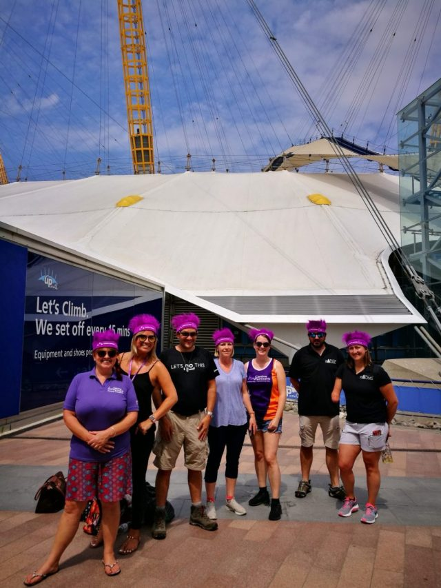 Some nerves before we go Up at the O2 - Climbing the O2 in London with Canine Partners