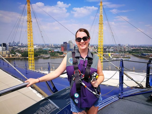 I'm at the Top of the O2 - Climbing the O2 in London