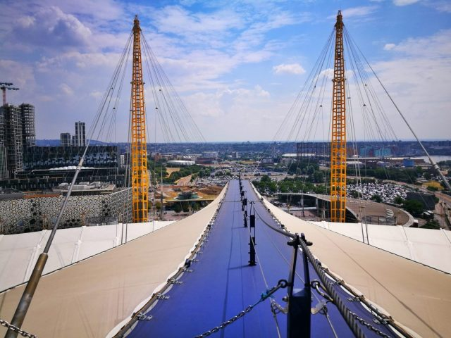 The Walkway to the Top of the O2 Arena in London - Climbing the O2