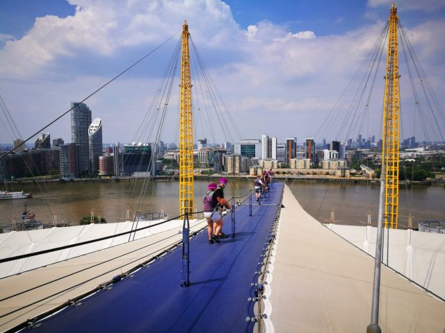 On our way down the O2 - Climbing the O2 in London