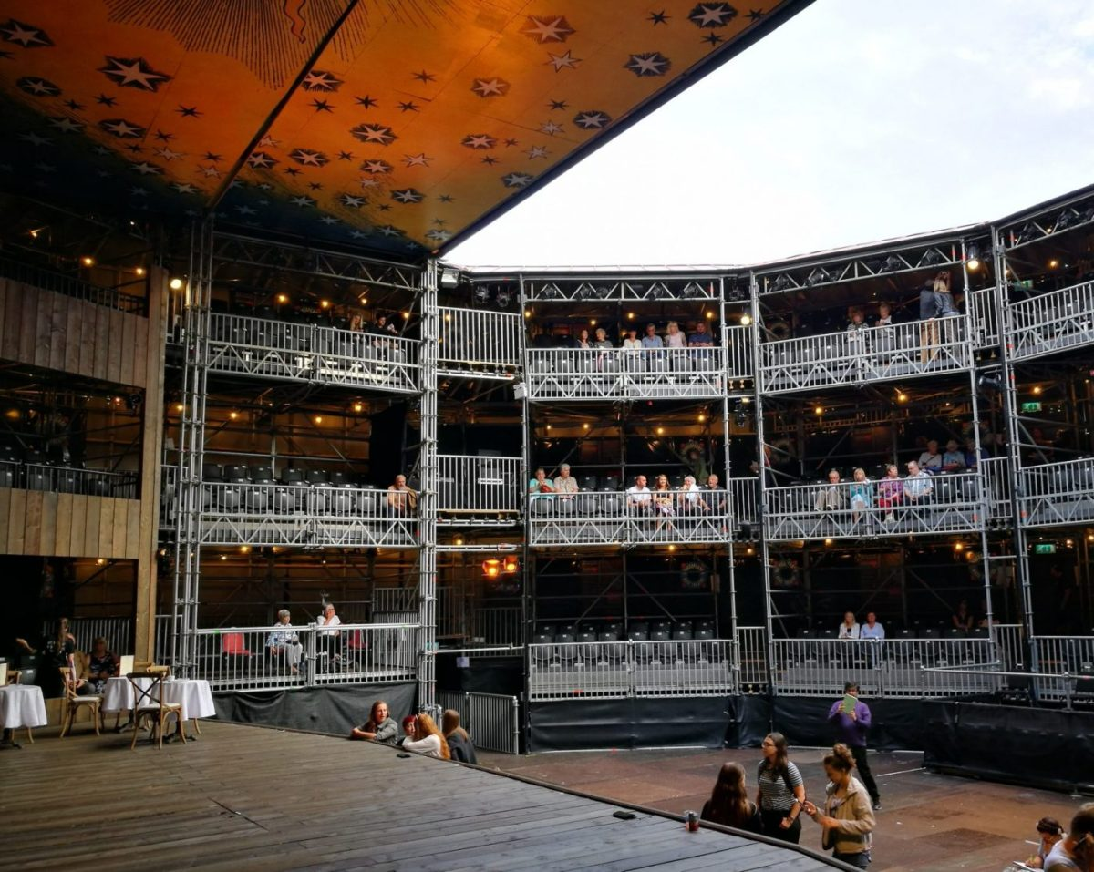 The Stage and the tiered seating at the Rose Theatre York