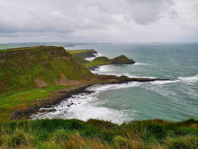 Our First View of the Giant's Causeway on the Causeway Coastal Route Walk - Giants Causeway Tour from Belfast