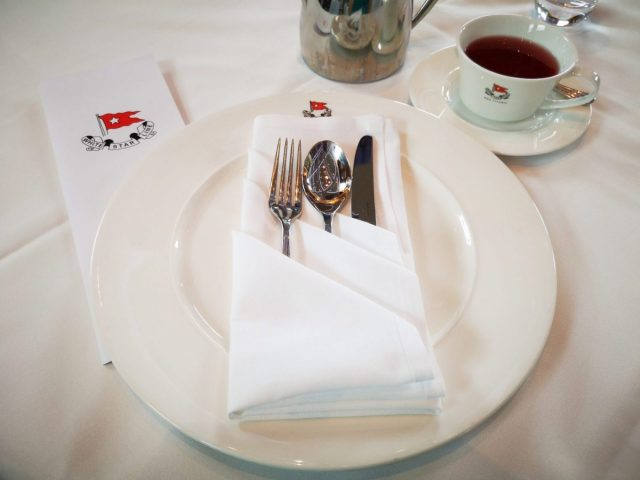 RMS Titanic replica crockery for your afternoon tea in Belfast