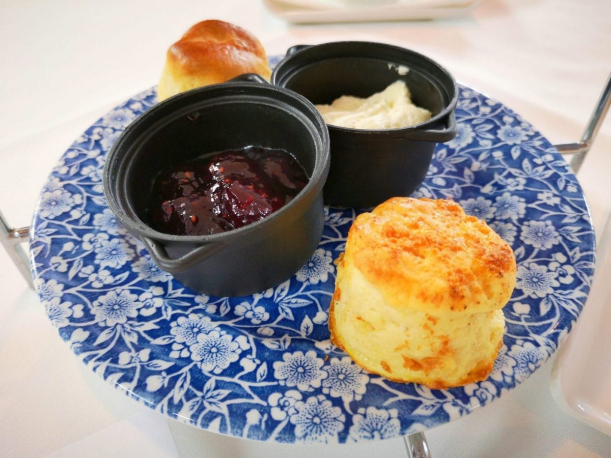 Savoury and sweet scones for afternoon tea in Belfast