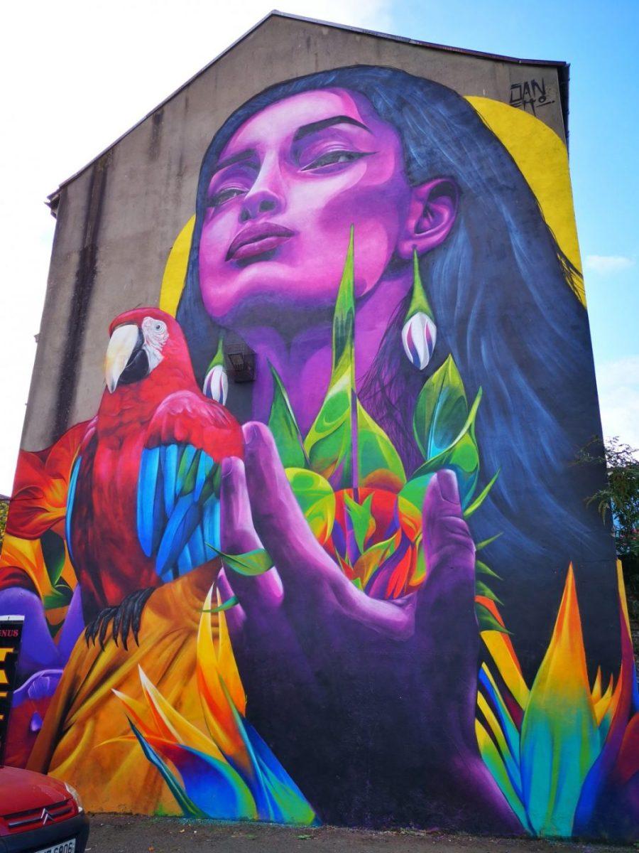 Belfast Street Art - A Colourful piece by a Colombian street artist