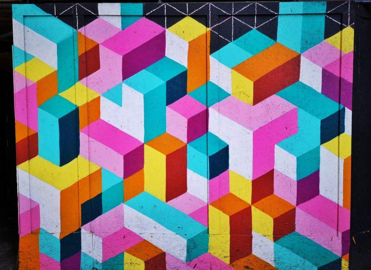 Belfast Street Art - coloured blocks