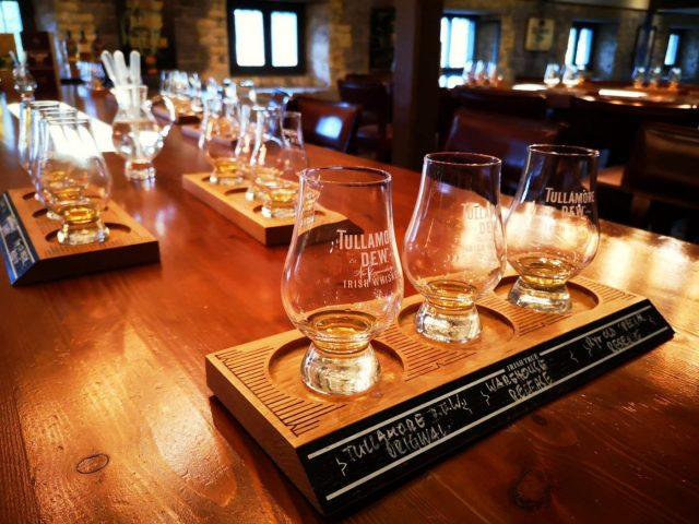Whiskey Tasting at Tullamore Dew Whiskey Distillery