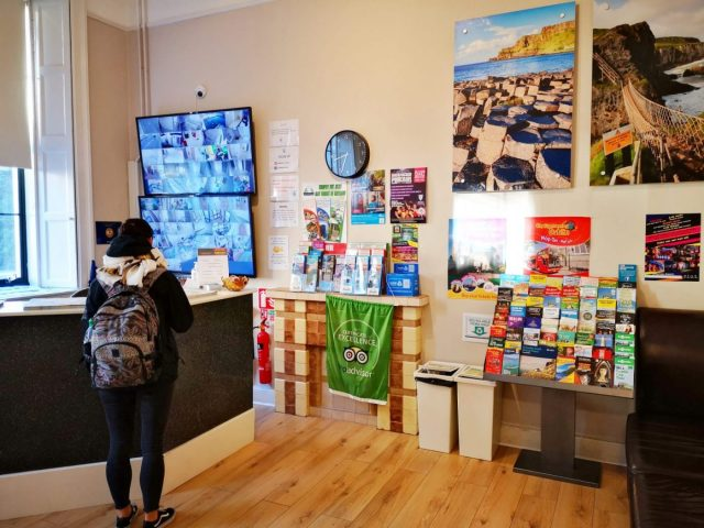 Where to stay in Dublin - Reception at the Gardiner House Hostel Dublin