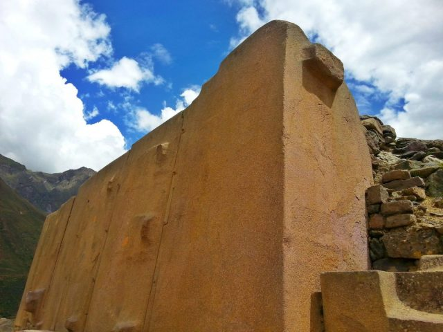 Part of the Temple of the Sun at Ollantaytambo Peru - going from Cusco to Ollantaytambo