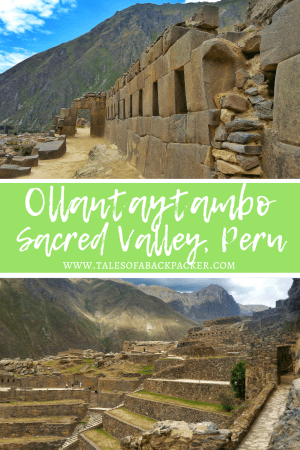 Ollantaytambo is a fascinating place to visit, and should certainly be on your Peru travel itinerary.  Often overlooked, be sure to give Ollantaytambo, or Ollanta as it's also known, a chance to show you just why it is so special.  Here I've listed my reasons to hopefully persuade you why you should go from Cusco to Ollantaytambo before heading to Machu Picchu. #Peru #MachuPicchu #SacredValley #Ollantaytambo #Maras #Moray #BackpackingPeru #Travel #Backpacking #PeruItinerary