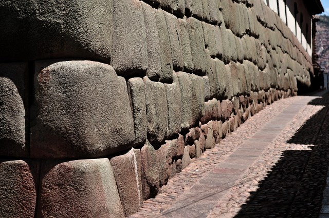 Streets in Cusco Show the Inca Stone Walls