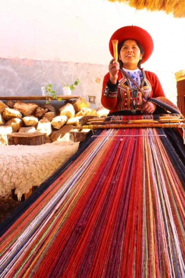 Weaving at Chinchero near Cusco - Day Trips from Cusco Peru