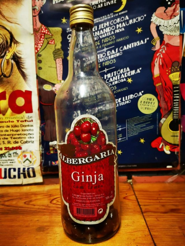 A Bottle of Ginja Cherry Liqueur