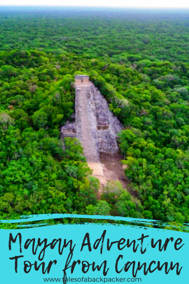 This eco-tour brings tradition, custom, and adventure together for an an all-day Cancun excursion to an authentic Maya village near Coba. Experience adventures like zip lining, canoeing, swimming in a cavern (cenote), rappelling, and learn more about the Maya culture by attending a Maya blessing ceremony and exploring the ancient Coba ruins in the lush jungle park. #Mexico #Cancun #Coba #Maya #EcoTour #Excursion