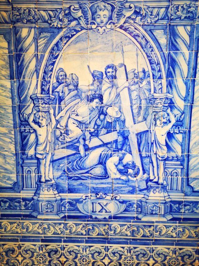 Azulejo tiles in the Chapter Room of San Francisco Church in Evora