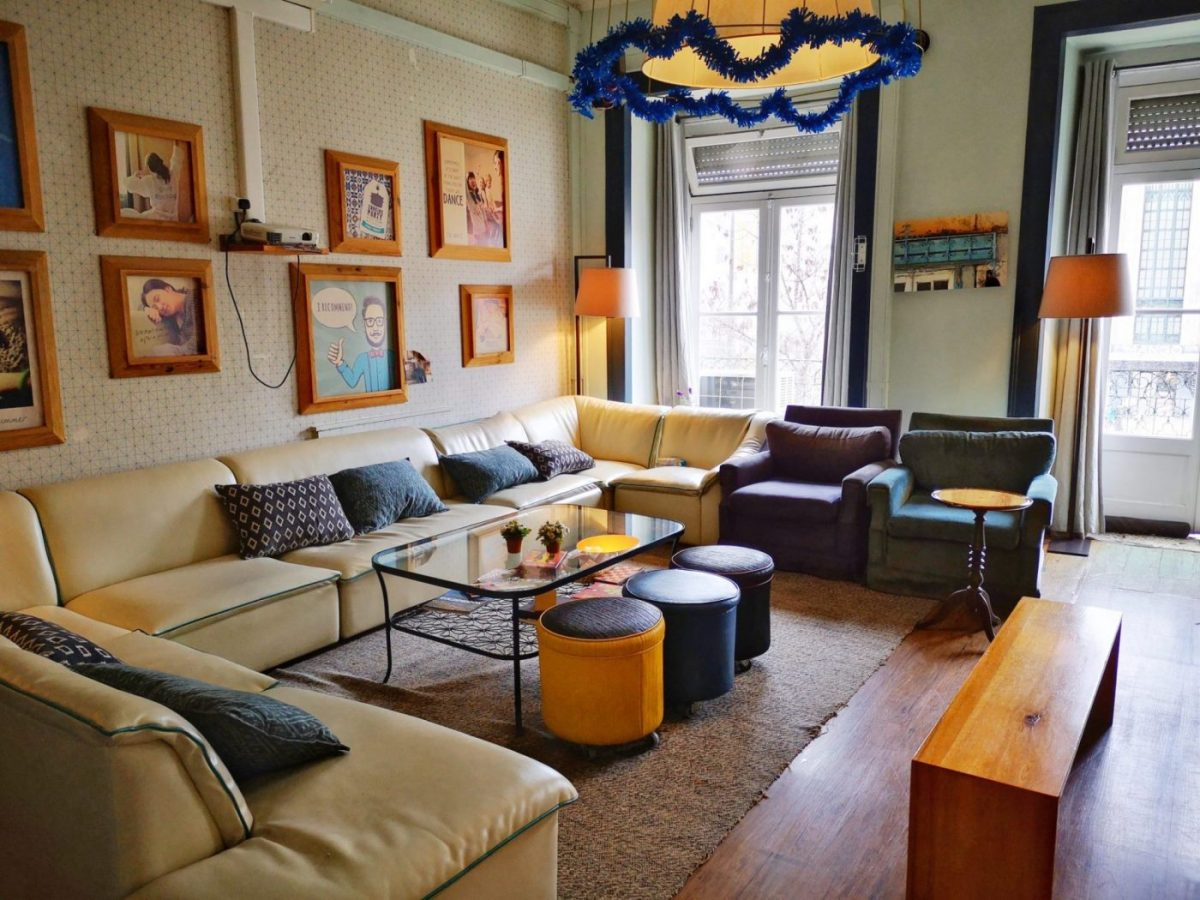 The Lounge Area at Good Morning Hostel Lisbon