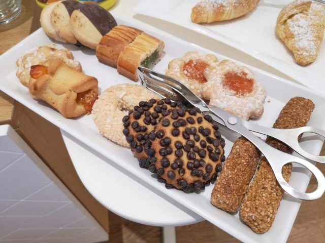 Delicious Treats from the local bakery for Breakfast at Kalamonjo Suite&Rooms