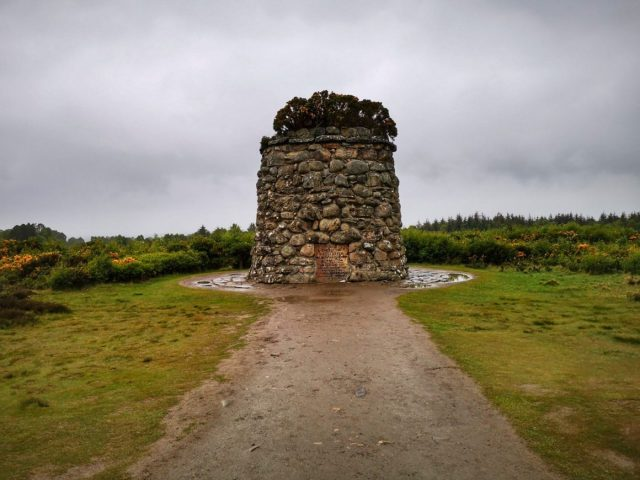 Stone Monument at Culodden Battlefield