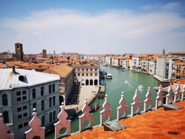 The Grand Canal from the Fondaco dei Tedeschi rooftop terrace