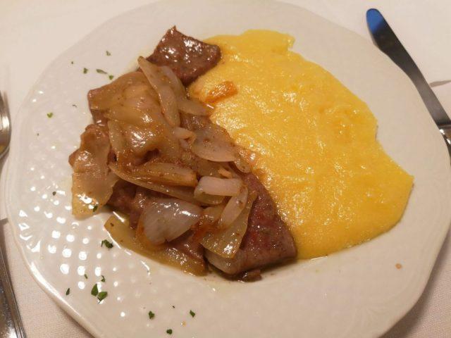 Fegato Alla Veneziana- Venetian Style Liver and Onions with Polenta