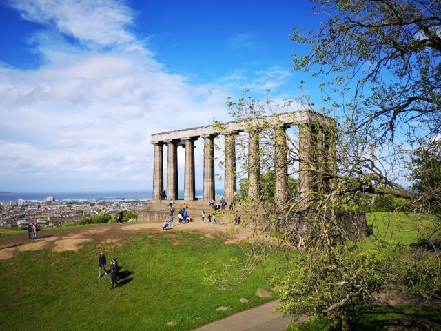 The National Monument of Scotland on Calton Hill in Edinburgh