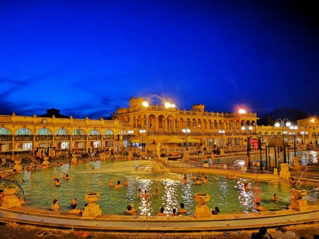 Szechenyi Spa is open until 10pm