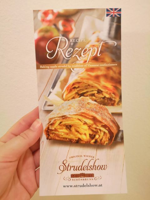 The Strudelshow recipe card with a Strudel Hotline phone number