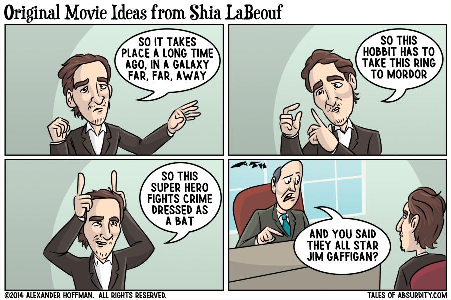 Original Movie Ideas from Shia LaBeouf