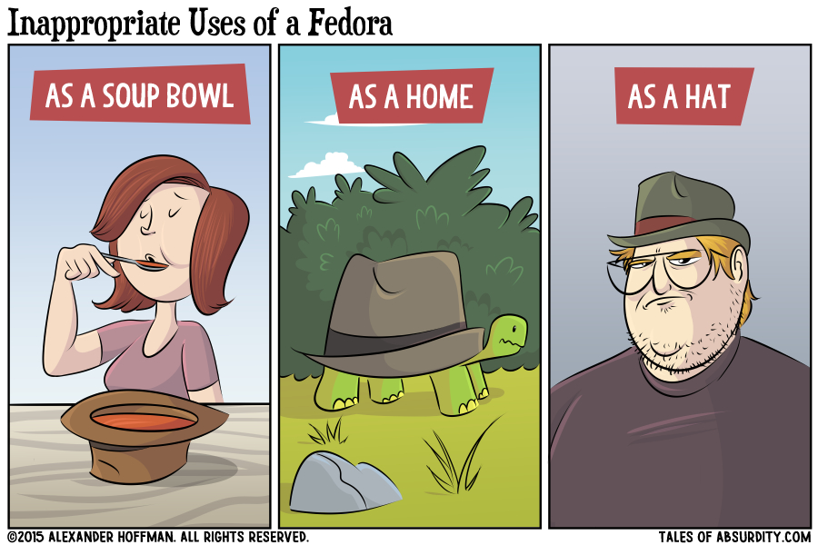 Inappropriate Uses of a Fedora