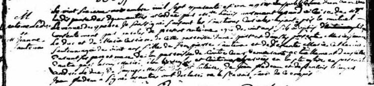 Marriage of Jeanne Faucheaux and Antoine Leduc ~ Basilique Notre Dame ~ 1671