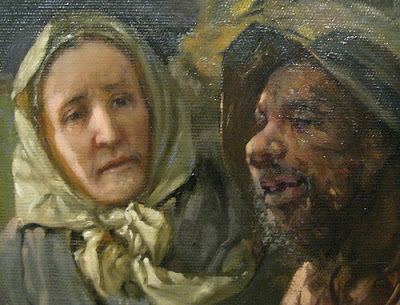 Catharine Coffin with Escaping Slave ~ detail from Webber Painting