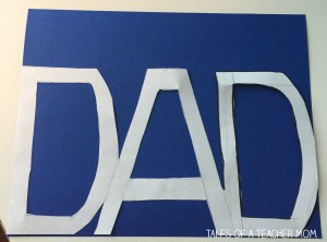 Dad card trace template