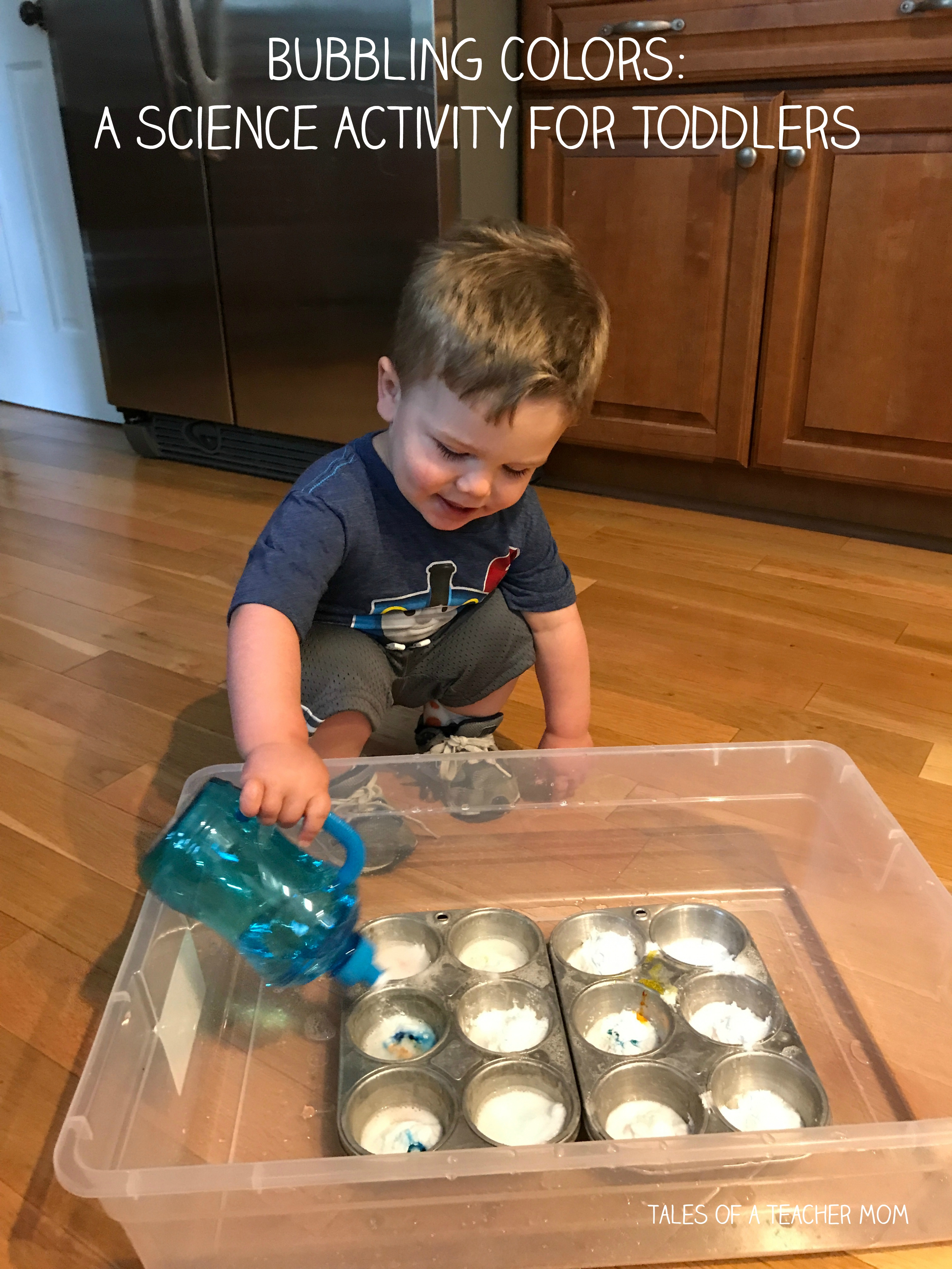 Bubbling Colors A Science Activity For Toddlers