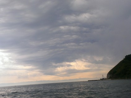 lake baikal from a boat