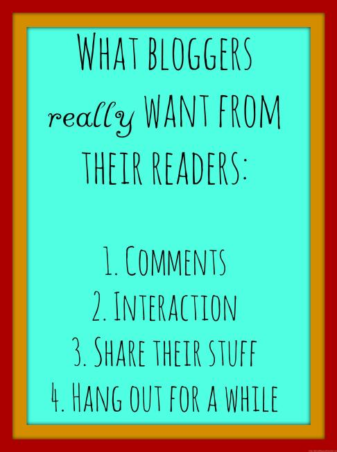 What bloggers really want