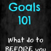 Setting goals is a great way to achieve your dreams, here are some things you need to know BEFORE you start!