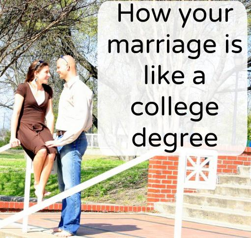 marriage is like a college degree