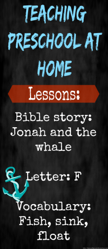 This is such a fun lesson to teach preschoolers the story of Jonah and the whale!