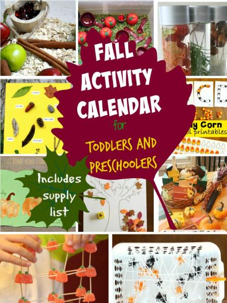 These are some of the best fall activies from around the web. I love that it includes a calendar and supply list! I can't wait to get started on these with my littles!
