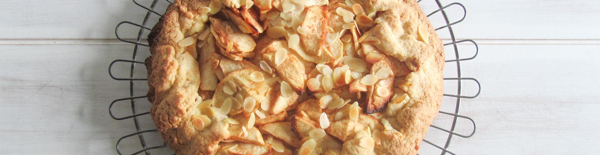 Easy apple galette