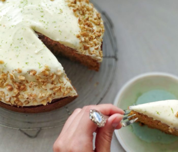 Carrot Cake with Lime Cream Cheese Frosting Recipe