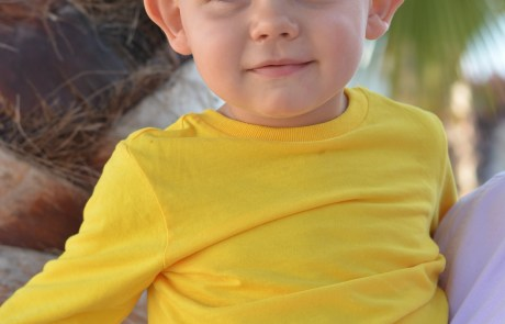 Little Man Happy on Holiday