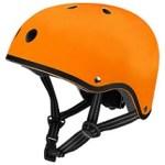 The funky orange helmet we bought to go with Fidget's Mini Micro Scooter.
