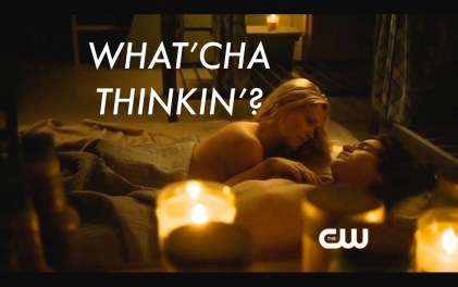 Finn and Clarke in bed