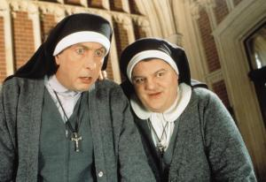 NUNS ON THE RUN, Eric Idle, Robbie Coltrane, 1990