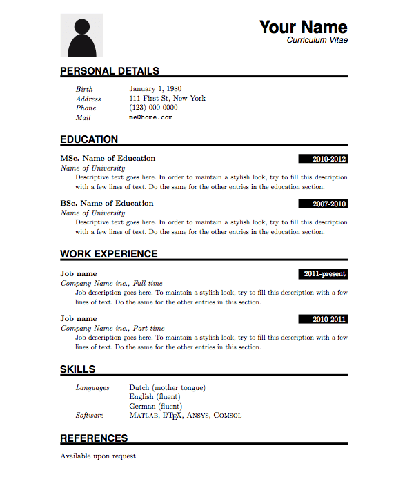 Where Is The Resume Template In Microsoft Word 2017