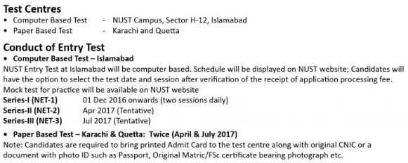 Nust Entry Test Result And Merit List 2018 - Resume Examples